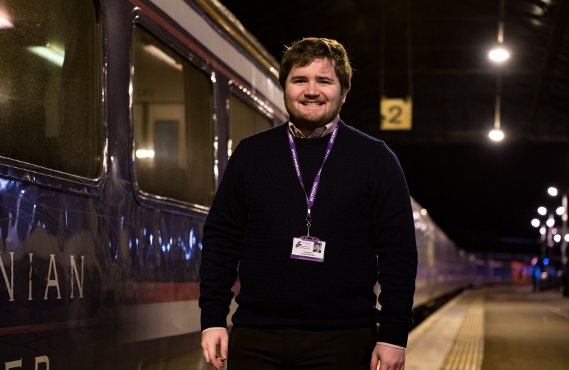 Councillor Mackie at Inverness Station
