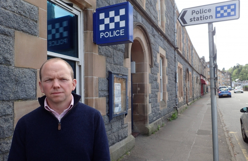 Donald Cameron MSP at Oban Police Station