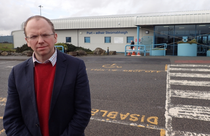 Donald Cameron MSP at Stornoway Airport