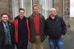 Councillors Struan Mackie, Callum Smith and Andrew Sinclair with Edward Mountain MSP
