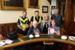 Councillor Isabelle MacKenzie with Elderly guests in the Town House