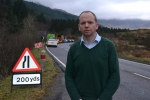 Donald Cameron MSP at the A83 Rest and be Thankful